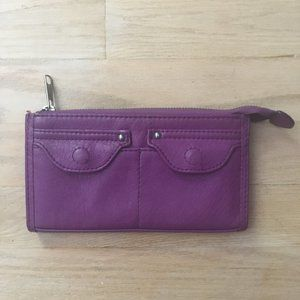 Purple Faux/Vegan Leather Wallet (H&M)